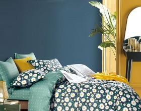 Комплект постельного белья 1,5-спальный, печатный сатин 1594-4S