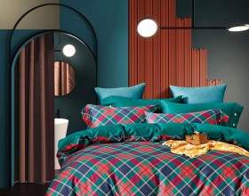 Комплект постельного белья 1,5-спальный, египетский хлопок 1639-4S