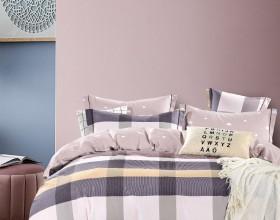 Комплект постельного белья 1,5-спальный, печатный сатин 1548-4S