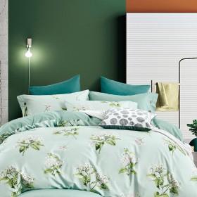 Комплект постельного белья 1,5-спальный, печатный сатин 1553-4S