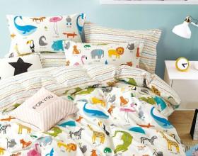 Комплект постельного белья 1,5-спальный, печатный сатин 1557-4S