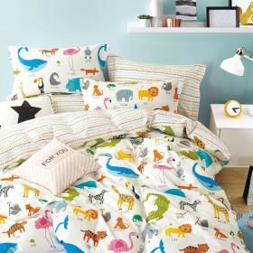 Комплект постельного белья 1,5-спальный, печатный сатин 1557-4XS