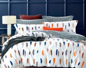 Комплект постельного белья 1,5-спальный, печатный сатин 1004-4S