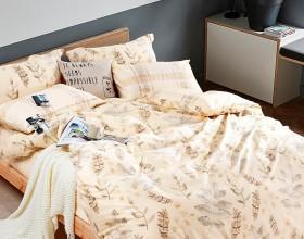 Комплект постельного белья Евро, печатный сатин 1008-6