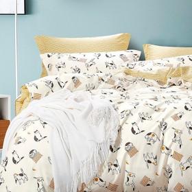 Комплект постельного белья 1,5-спальный, печатный сатин 1010-4XS
