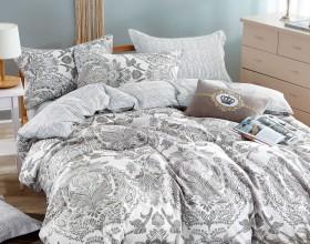 Комплект постельного белья Евро, печатный сатин 1011-6