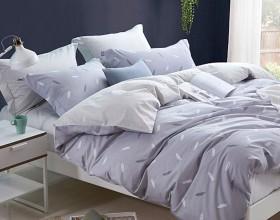 Комплект постельного белья 1,5-спальный, печатный сатин 1012-4S