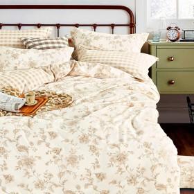 Комплект постельного белья Евро, печатный сатин 1013-6