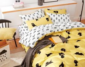 Комплект постельного белья 1,5-спальный, печатный сатин 1017-4S