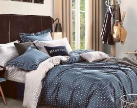 Комплект постельного белья 1,5-спальный, печатный сатин 1023-4S