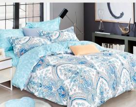 Комплект постельного белья Евро, печатный сатин 1026-6