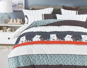Комплект постельного белья 1,5-спальный, печатный сатин 1032-4S