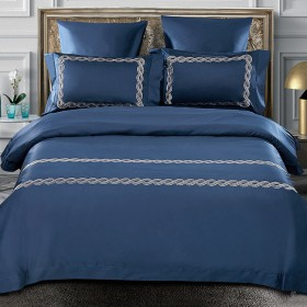 Комплект постельного белья Евро, египетский хлопок 1037-4