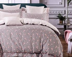 Комплект постельного белья 1,5-спальный, печатный сатин 1075-4S