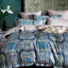 Комплект постельного белья Евро, печатный сатин 1077-6
