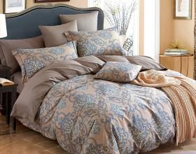 Комплект постельного белья Евро, печатный сатин 1078-6