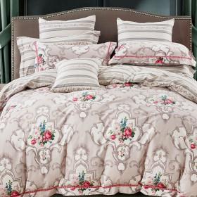 Комплект постельного белья Евро, печатный сатин 1079-6