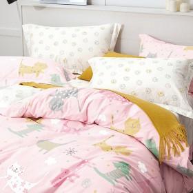 Комплект постельного белья 1,5-спальный, печатный сатин 1086-4XS
