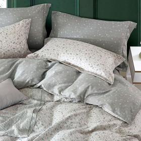 Комплект постельного белья Евро, печатный сатин 1087-6