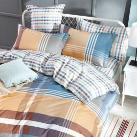 Комплект постельного белья 1,5-спальный, печатный сатин 1088-4S