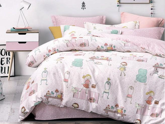 Комплект постельного белья 1,5-спальный, печатный сатин 1091-4S