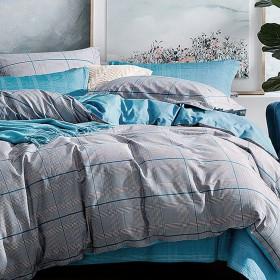 Комплект постельного белья Евро, печатный сатин 1092-6