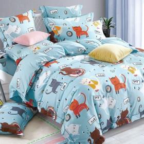 Комплект постельного белья 1,5-спальный, печатный сатин 1093-4XS