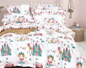 Комплект постельного белья 1,5-спальный, печатный сатин 1094-4S