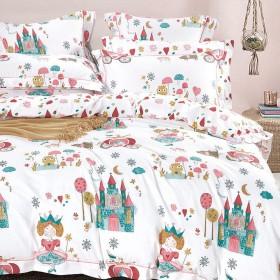 Комплект постельного белья 1,5-спальный, печатный сатин 1094-4XS