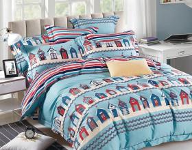 Комплект постельного белья 1,5-спальный, печатный сатин 1096-4S