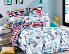 Комплект постельного белья 1,5-спальный, печатный сатин 1098-4S