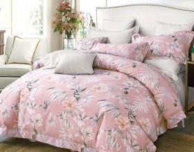 Комплект постельного белья 1,5-спальный, печатный сатин 1111-4S