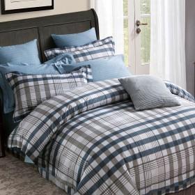 Комплект постельного белья 1,5-спальный, печатный сатин 1112-4S