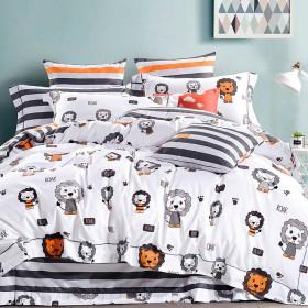 Комплект постельного белья 1,5-спальный, печатный сатин 1116-4S