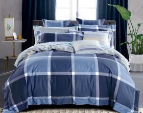 Комплект постельного белья 1,5-спальный, печатный сатин 1117-4S