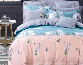 Комплект постельного белья 1,5-спальный, печатный сатин 1119-4XS