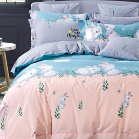 Комплект постельного белья 1,5-спальный, печатный сатин 1119-4S