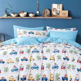 Комплект постельного белья 1,5-спальный, печатный сатин 1123-4XS