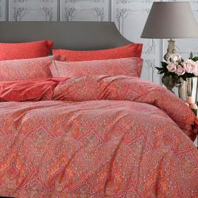 Комплект постельного белья Евро, печатный сатин 1124-6