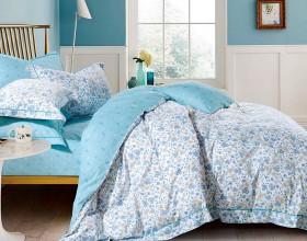 Комплект постельного белья 1,5-спальный, печатный сатин 1125-4S