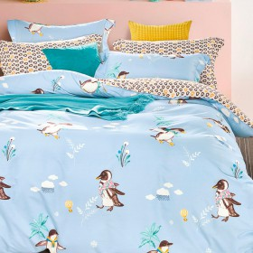 Комплект постельного белья 1,5-спальный, печатный сатин 1132-4XS