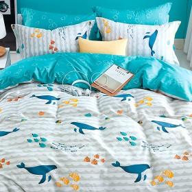 Комплект постельного белья 1,5-спальный, печатный сатин 1134-4S