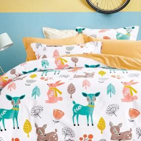 Комплект постельного белья 1,5-спальный, печатный сатин 1135-4S