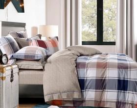 Комплект постельного белья 1,5-спальный, печатный сатин 1138-4S