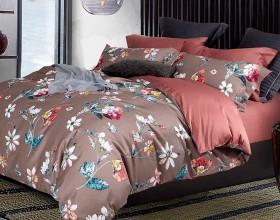 Комплект постельного белья 1,5-спальный, Египетский хлопок 1176-4S