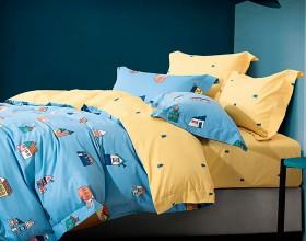 Комплект постельного белья 1,5-спальный, фланель 1182-4S