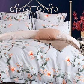Комплект постельного белья Семейный, печатный сатин 1201-7