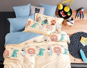 Комплект постельного белья 1,5-спальный, печатный сатин 1203-4S