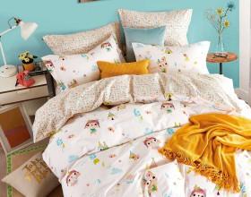 Комплект постельного белья 1,5-спальный, печатный сатин 1206-4S