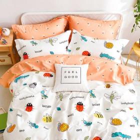 Комплект постельного белья 1,5-спальный, печатный сатин 1224-4XS